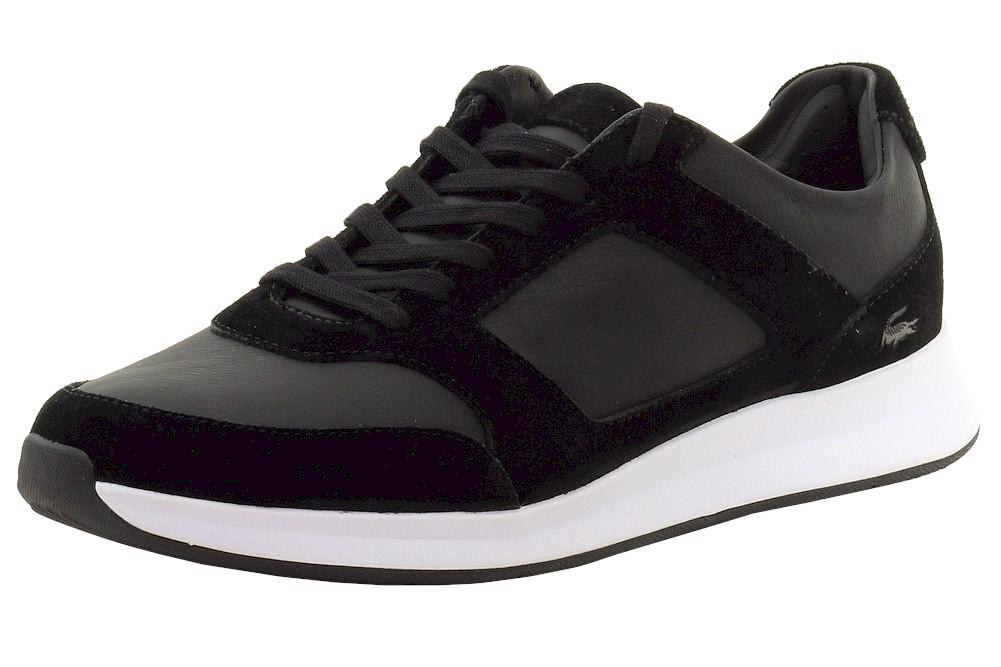 dd1cc6293cdf Lacoste Men s Joggeur 116 1 Fashion Black Leather Sneakers Shoes