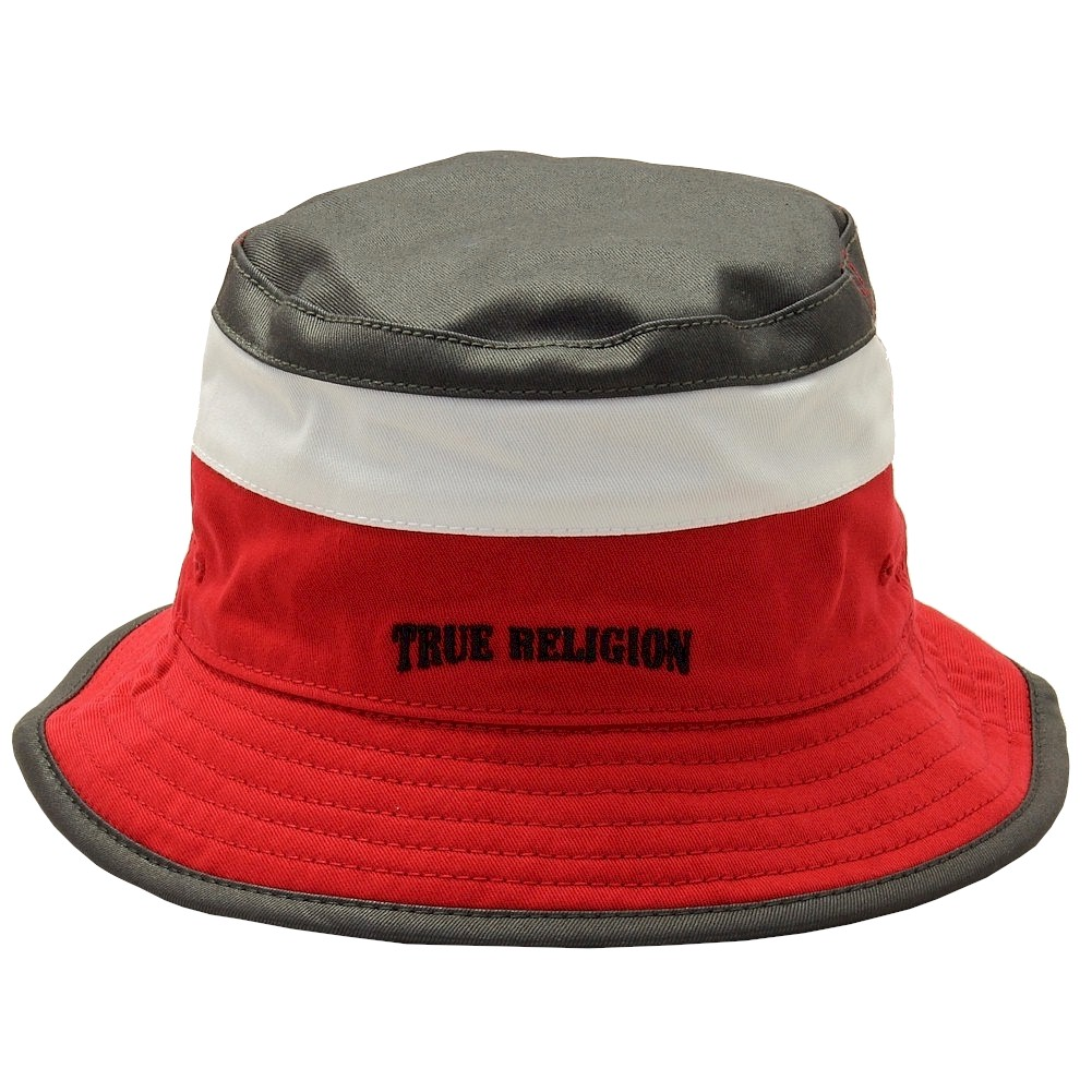 d3907a54679 True Religion Men s Color Blocked Black True Red Reversible Bucket ...