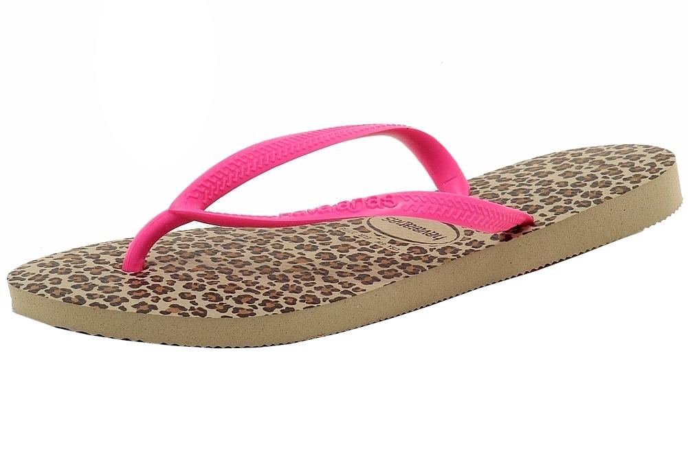 46f52feb9211d5 Havaianas Women s Slim Animals Fashion Sand Grey Pink Flip Flops ...