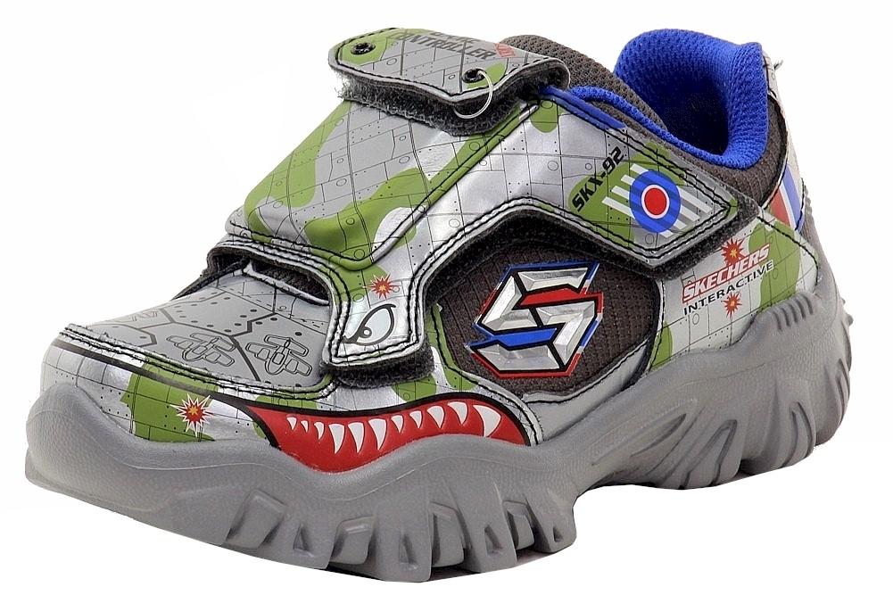 Detalles acerca de Skechers Boy's Damager III Juego patadas 2 GunmetalMulti Tenis Deportivas zapatos con luces mostrar título original