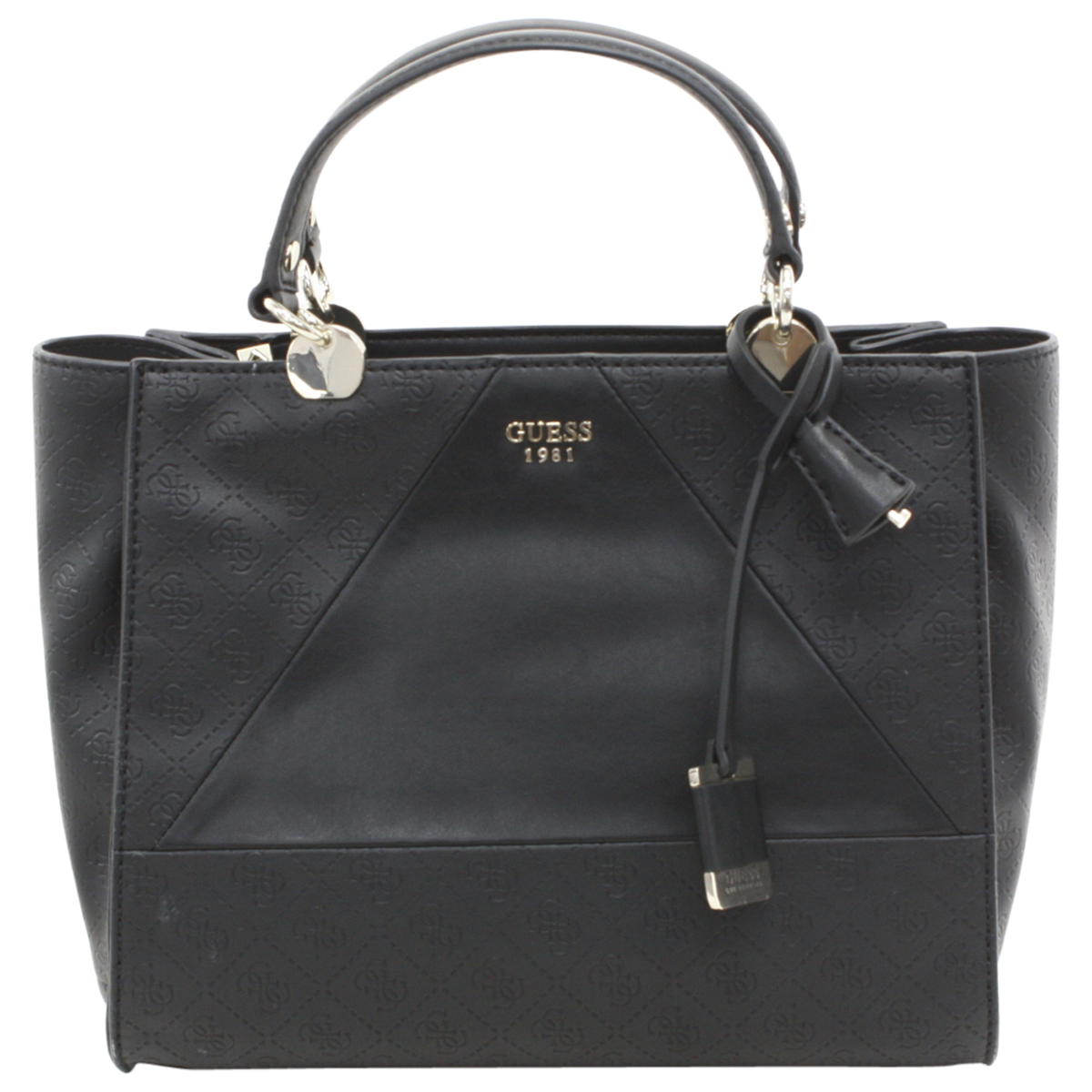 Mujer Luxe Negro Cammie Firma Estampado SatchelEbay Guess Bolso Qdthsr