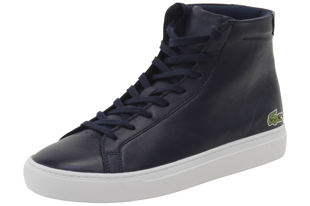 5be91a391a77f Lacoste Men s L.12.12 Mid 316 1 Fashion Navy High Top Sneakers Shoes ...