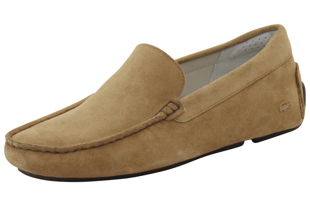 82721d92e Lacoste Men s Piloter 316 2 Fashion Light Tan Suede Loafers Shoes