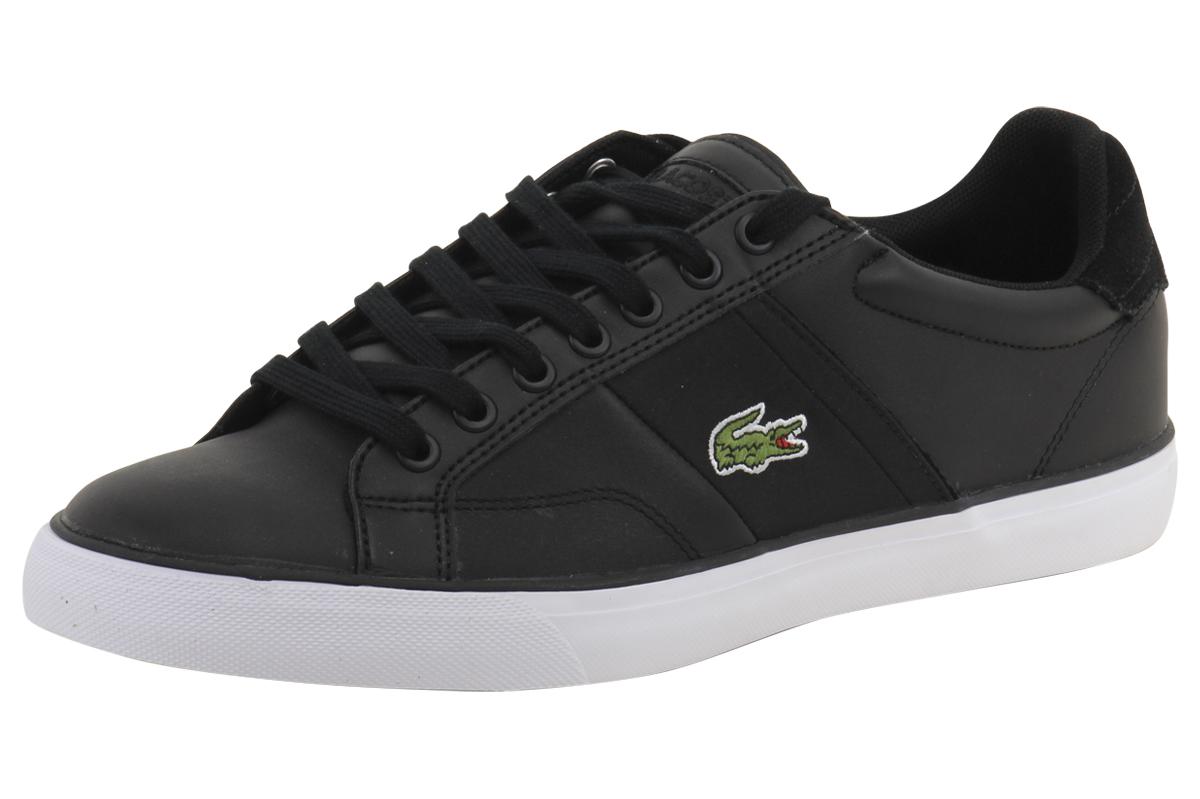 981975a15c581b Lacoste Men s Fairlead 316 1 Black Sneakers Shoes