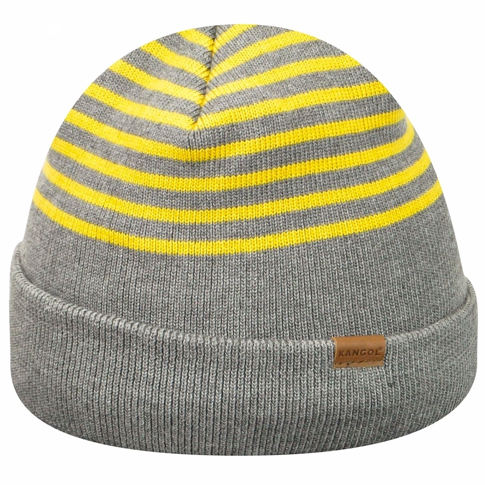 805faf82aea Kangol Men s Marl Stripe Cap Flannel Moutard Beanie Hat (One Size ...