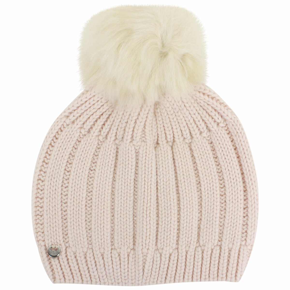 5d8eab197b6 Ugg Women s Solid Ribbed Pearl Winter Beanie Hat With Pom (One Size ...