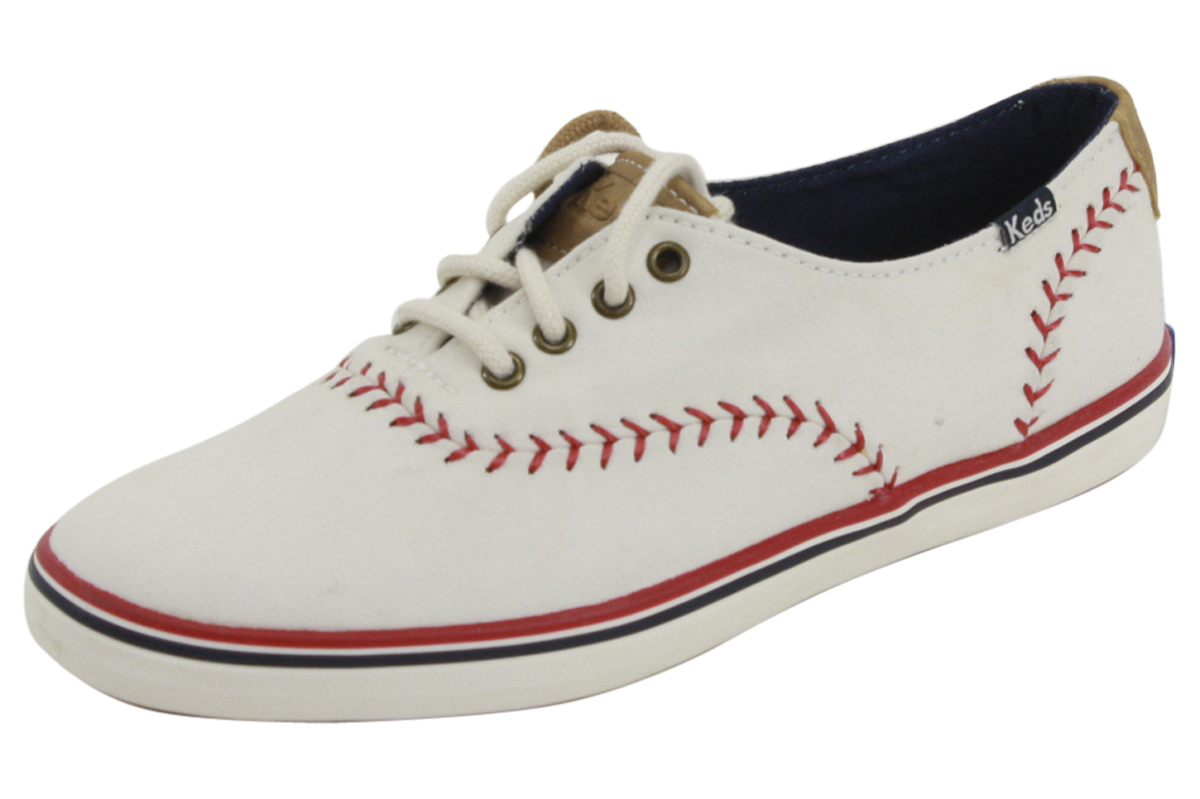 Keds Women's WF52476 Champion Pennant Off White Canvas ...