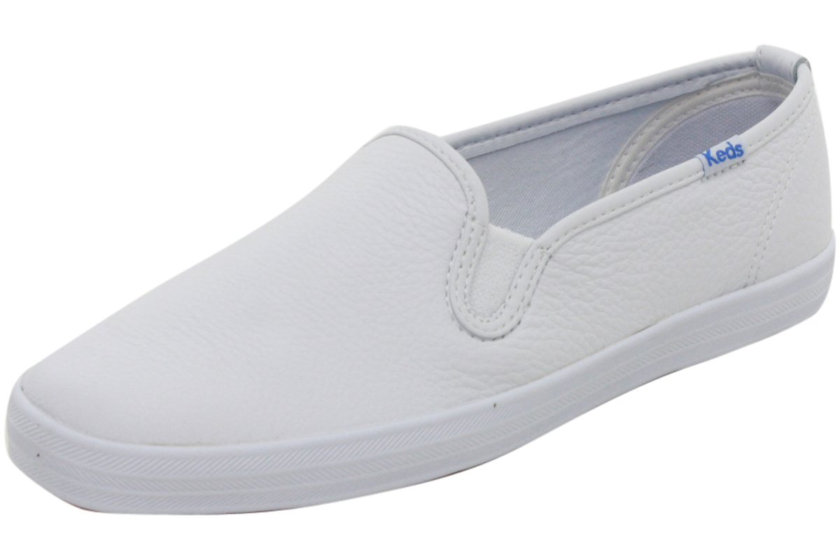 keds s wh48600 chion slip on white leather