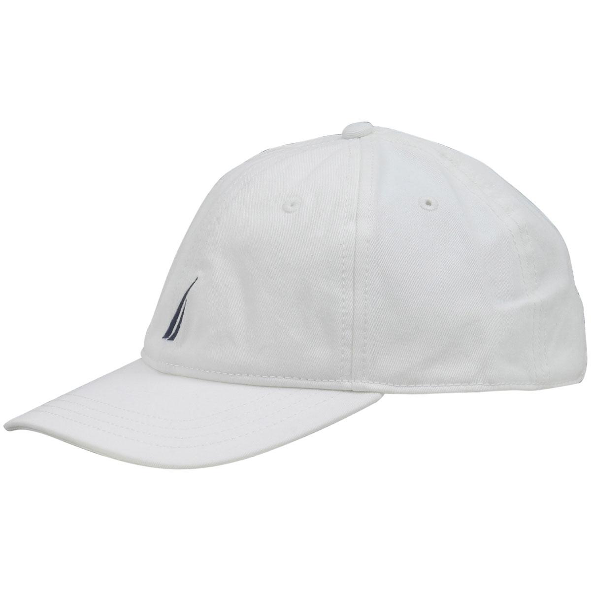 Nautica Anchor J-Class White Cotton Cap Baseball Hat (One Size Fits ... a62e0b4036b8