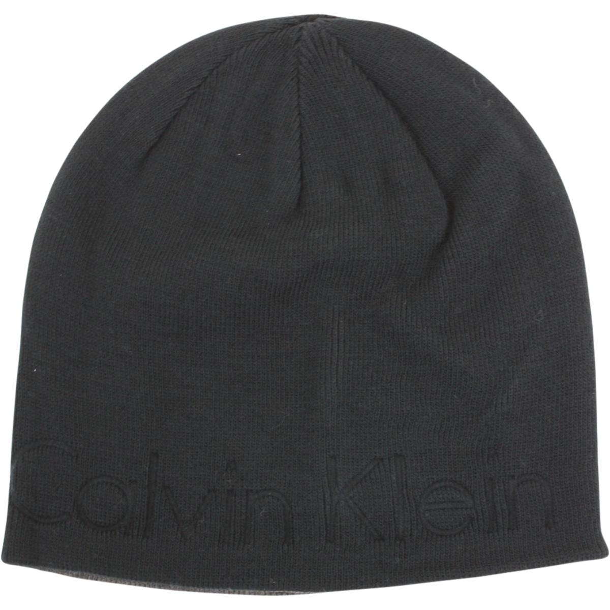 86f00b5b608 Calvin Klein Men s Embossed Logo Beanie Cap Winter Hat (One Size ...
