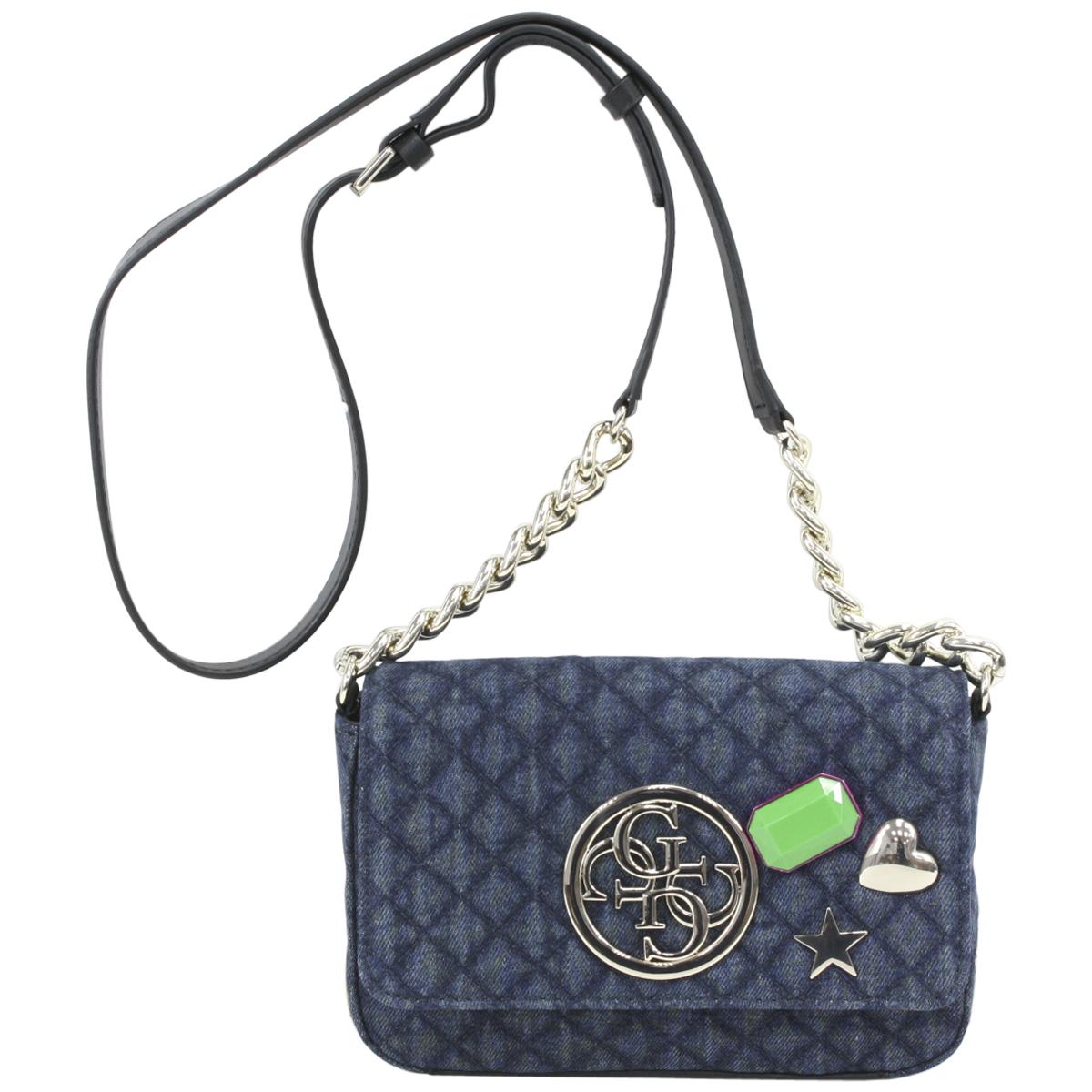 5160e5b341 Guess Women s G Lux Mini Quilted Flap-Over Crossbody Handbag