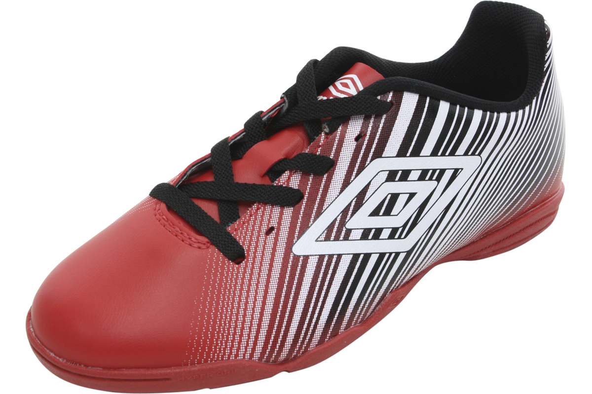 39c516825 Umbro Men s Slice II Red Black White Indoor Soccer Sneakers Shoes