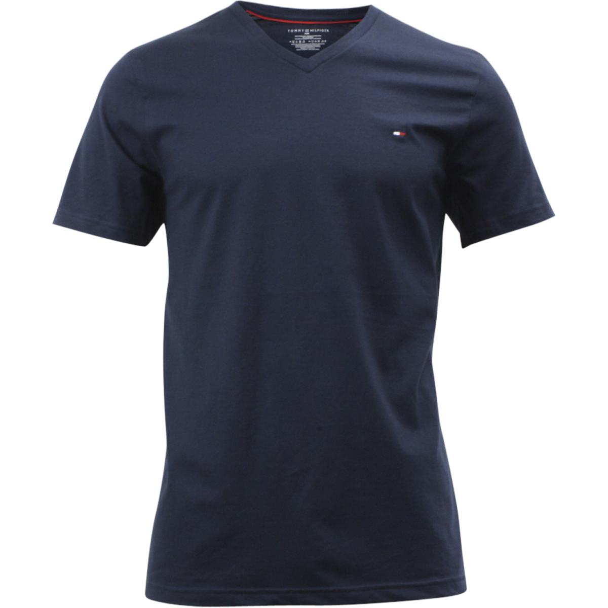 Tommy Hilfiger Men/'s Core Flag Short Sleeve Crew Neck Dark Navy Cotton T-Shirt