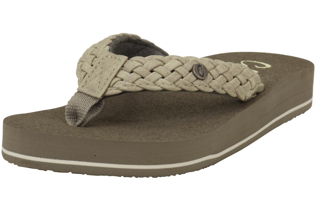 a39c838d4 Cobian Women s Braided Bounce Cream Flip Flop Sandals Shoes Sz  7 ...