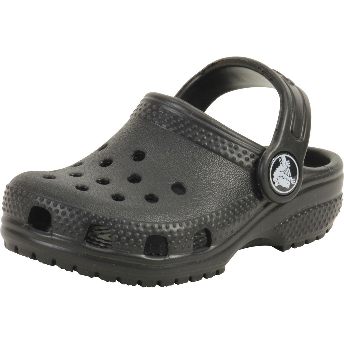 9d5329658e0d60 Crocs Toddler Boy s Original Classic Black Clogs Sandals Shoes