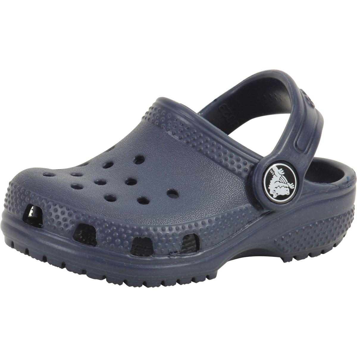 7035de544d250 Crocs Toddler Boy s Original Classic Navy Clogs Sandals Shoes Sz  6T ...