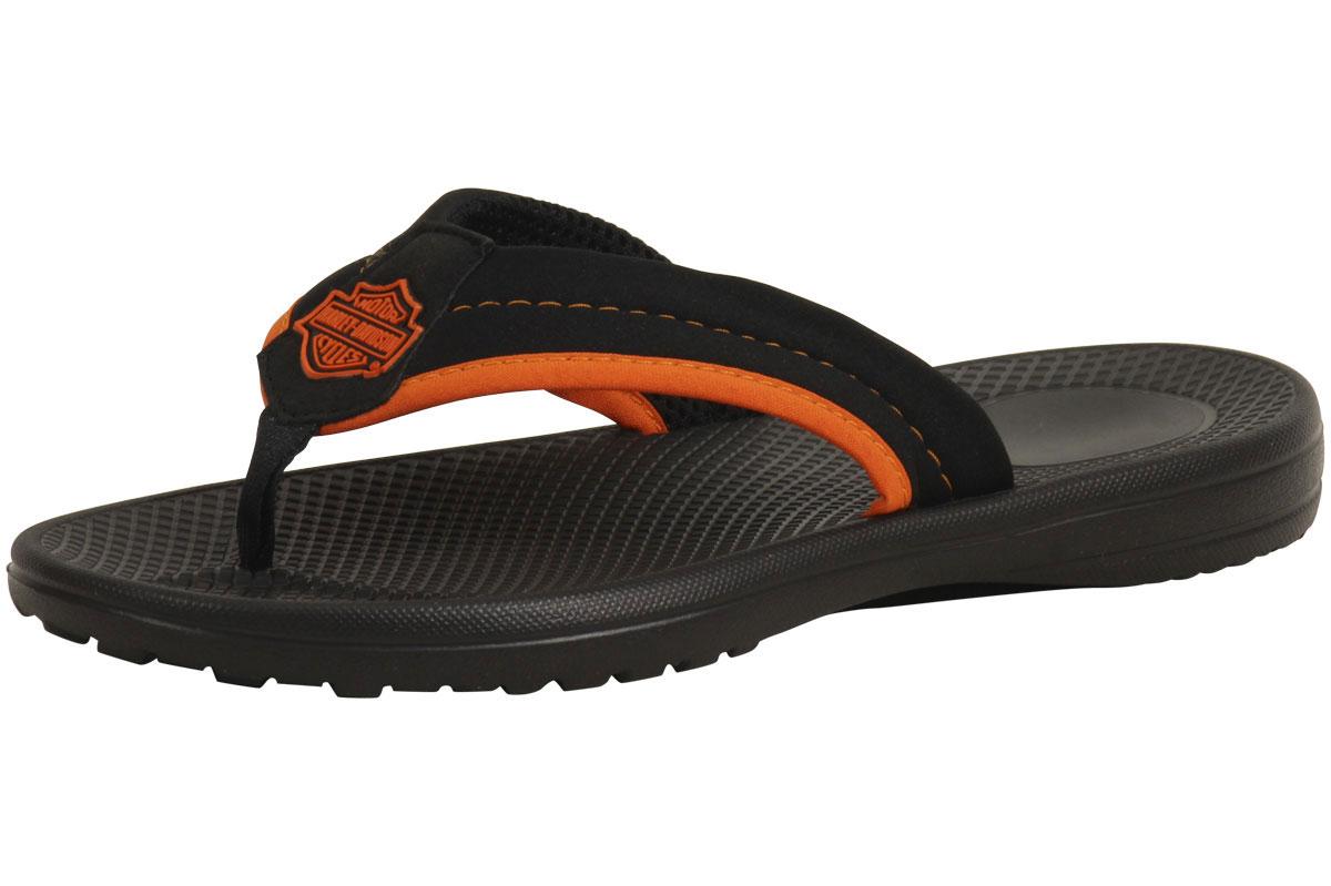8c17771b8768 Harley Davidson Men s Banks Black Orange Thong Flip-Flops Sandals ...