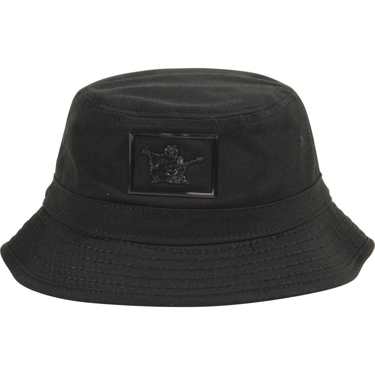 True Religion Men s Shiny Buddha Black Cotton Bucket Hat Sz  S M ... 81ef7a320360