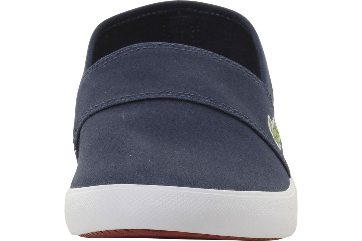 Lacoste Mens Marice Canvas Slip On Loafers Shoes Ebay D Island Moccasine Suede Blue Men 039 S