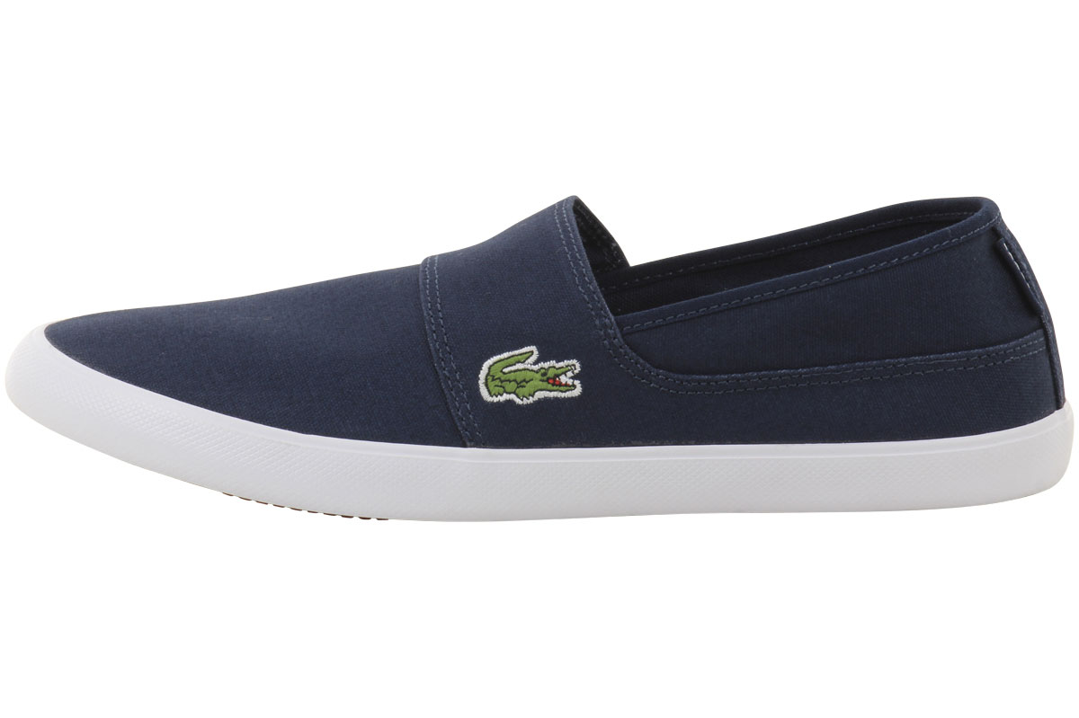 046d553b5b9c9f Lacoste Men s Marice Canvas Slip-On Loafers Shoes