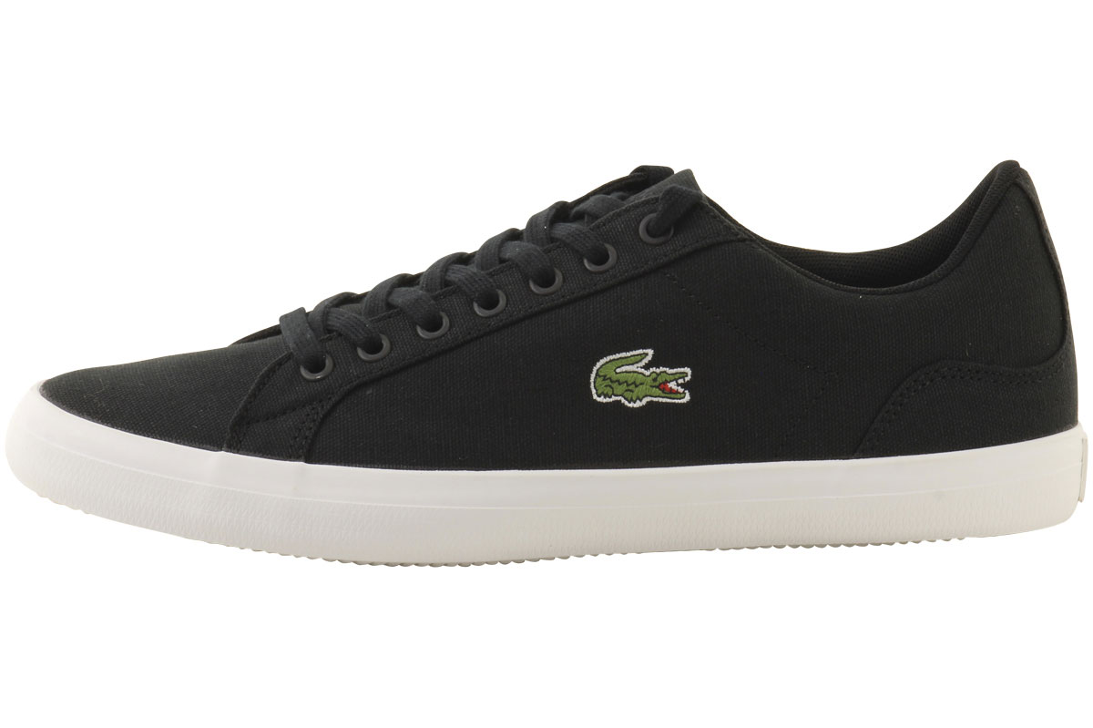 cheap for sale release date on feet images of Details about Lacoste Men's Lerond-BL-2 Canvas Sneakers Shoes