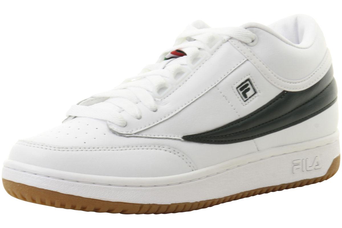 Fila Men's T -1 Mid bianca  Sycamore   Gum scarpe da ginnastica Scarpe  100% di contro garanzia genuina