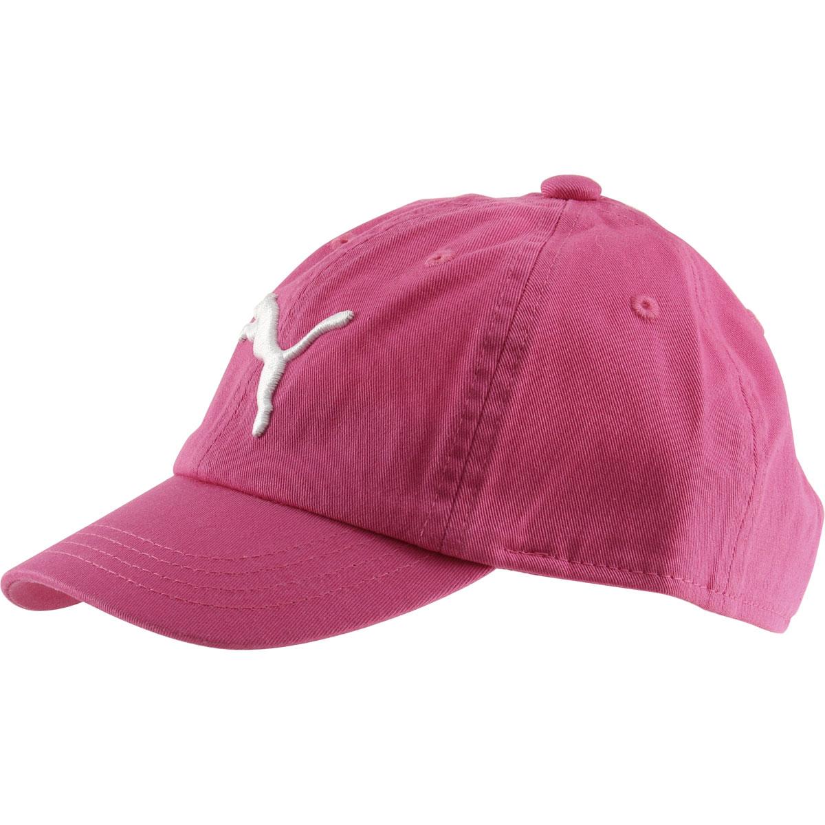 PUMA Girl s Youth Evercat Podium Cotton Baseball Cap Hat Pink  7f5775d07005