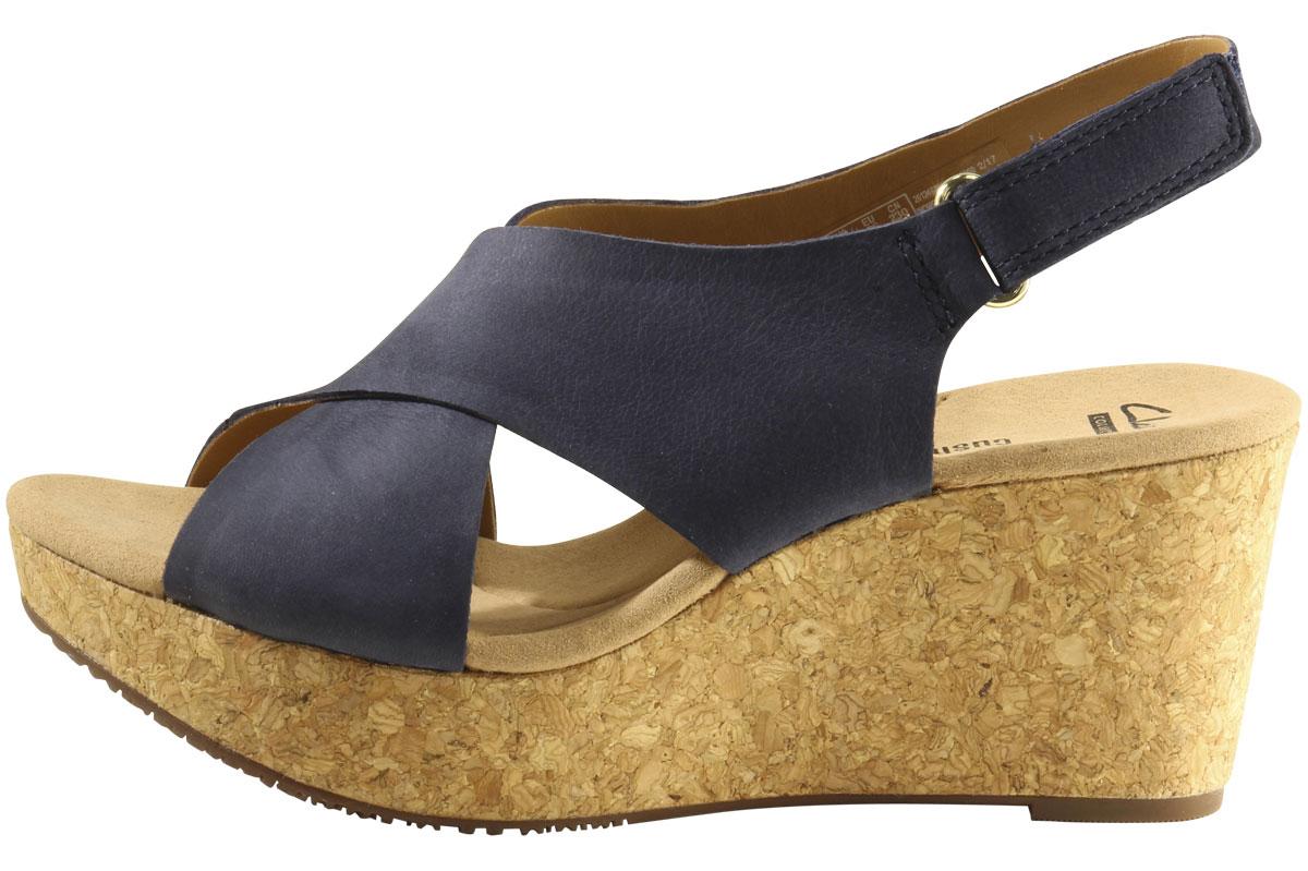 cdb58e646e3 Clarks Women s Annadel Eirwyn Cork Wedge Sandals Shoes