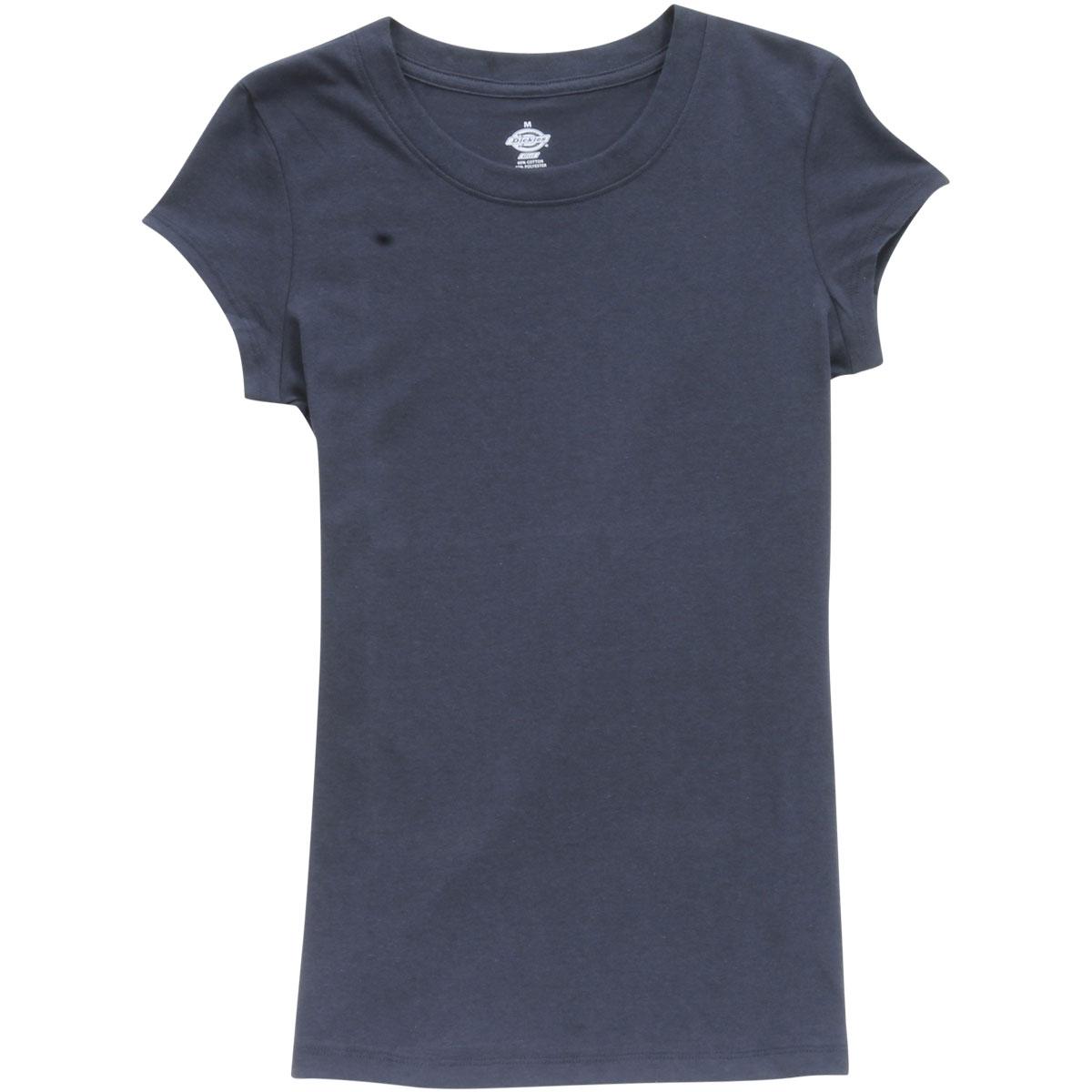 2a045748c39ef8 Dickies Girl Juniors Women s Slim Fit Short Sleeve Crew Neck T-Shirt ...