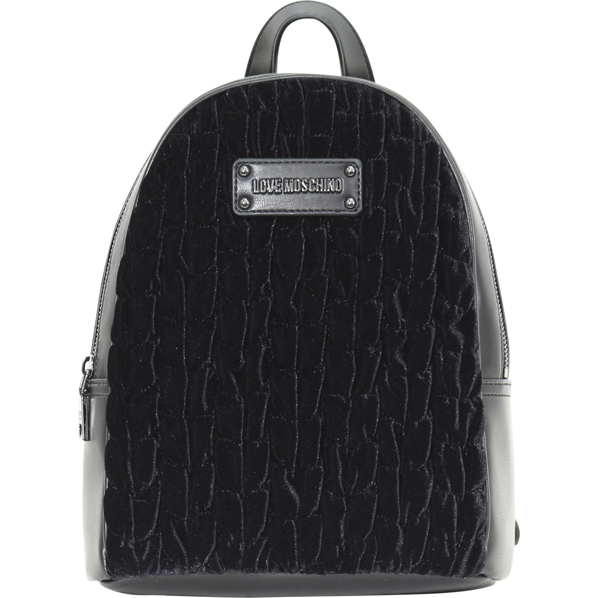 49194910d8 Details about Love Moschino Women s Black Gathered Velvet Backpack Bag