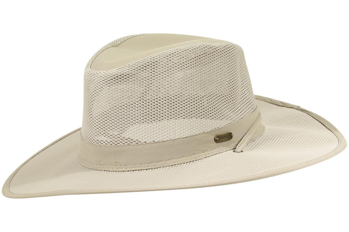 8e9c93854df Stetson No Fly Zone Insect Repellent Big Brim Mesh Traveler Hat