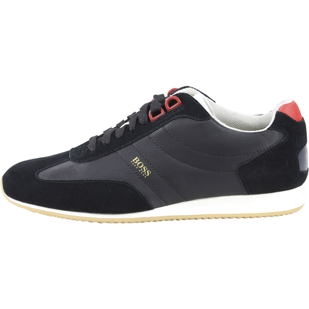 Mens Parkour_Runn_Knit Low-Top Sneakers, Black HUGO BOSS