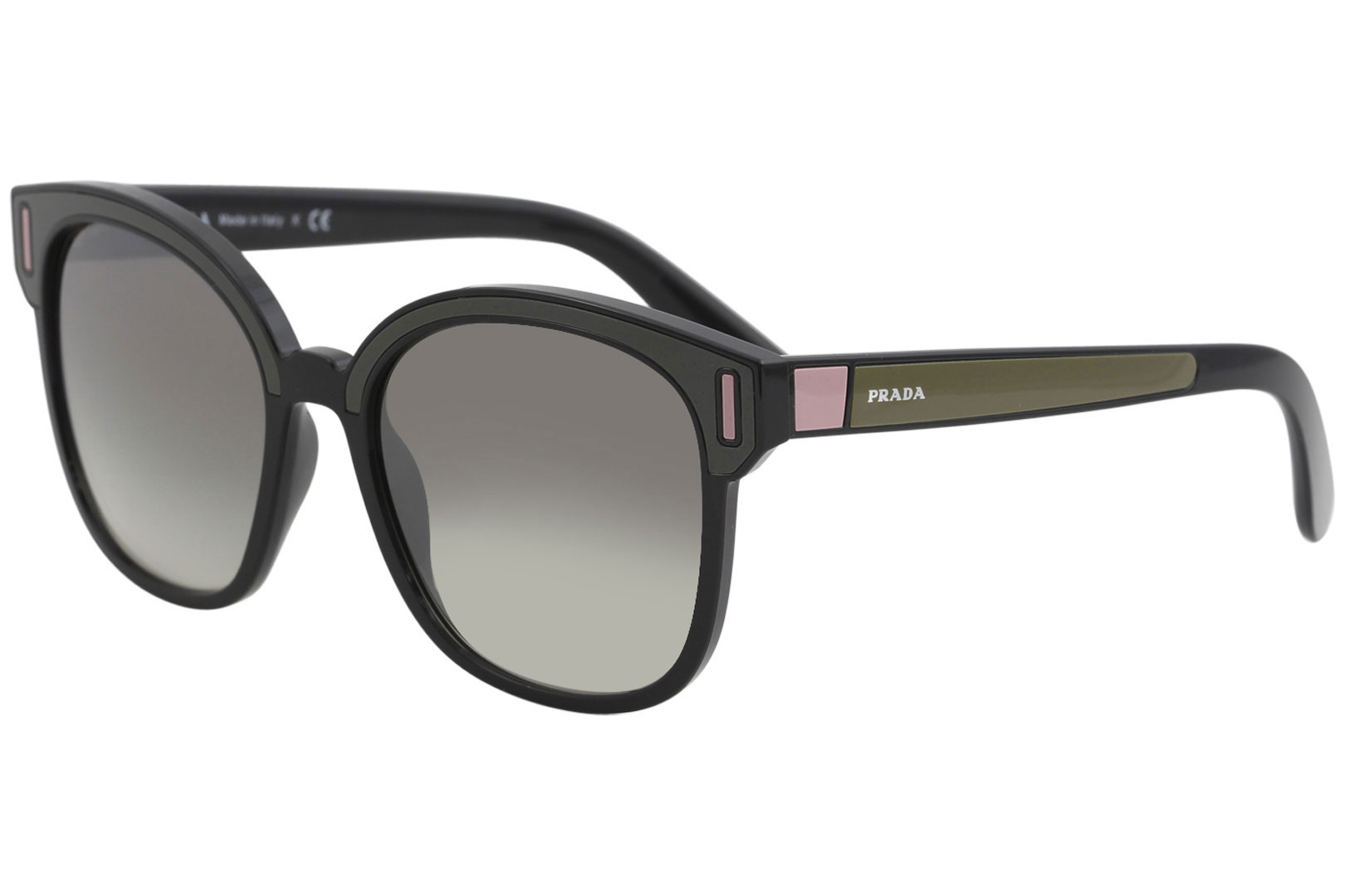 a02583f3bd56 Prada Women s SPR05U SPR 05U SVK 5O0 Black Brown Pink Square ...