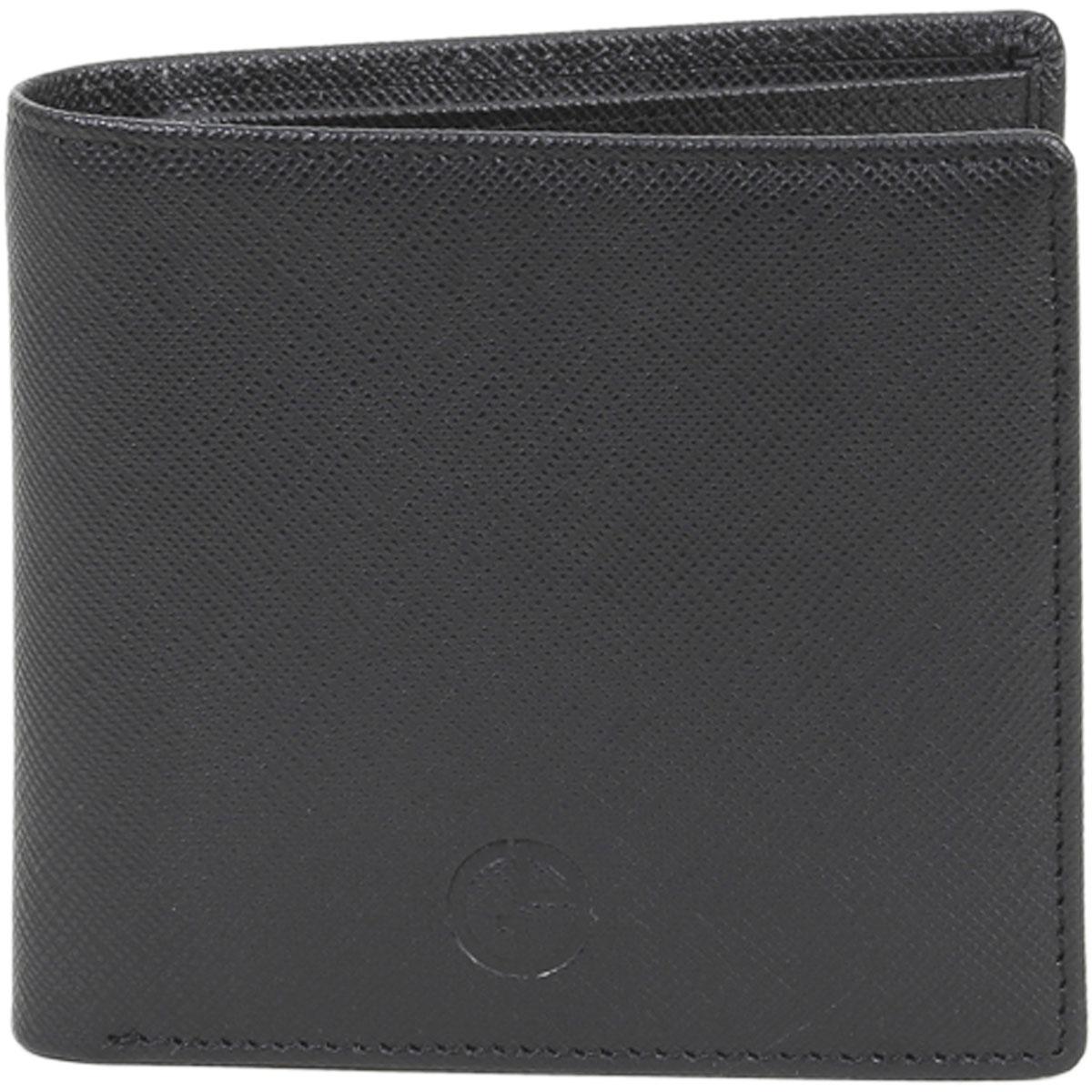 super popolare 233b9 903b1 Details about Giorgio Armani Portafoglio Classico Black Genuine Leather  Bi-Fold Wallet