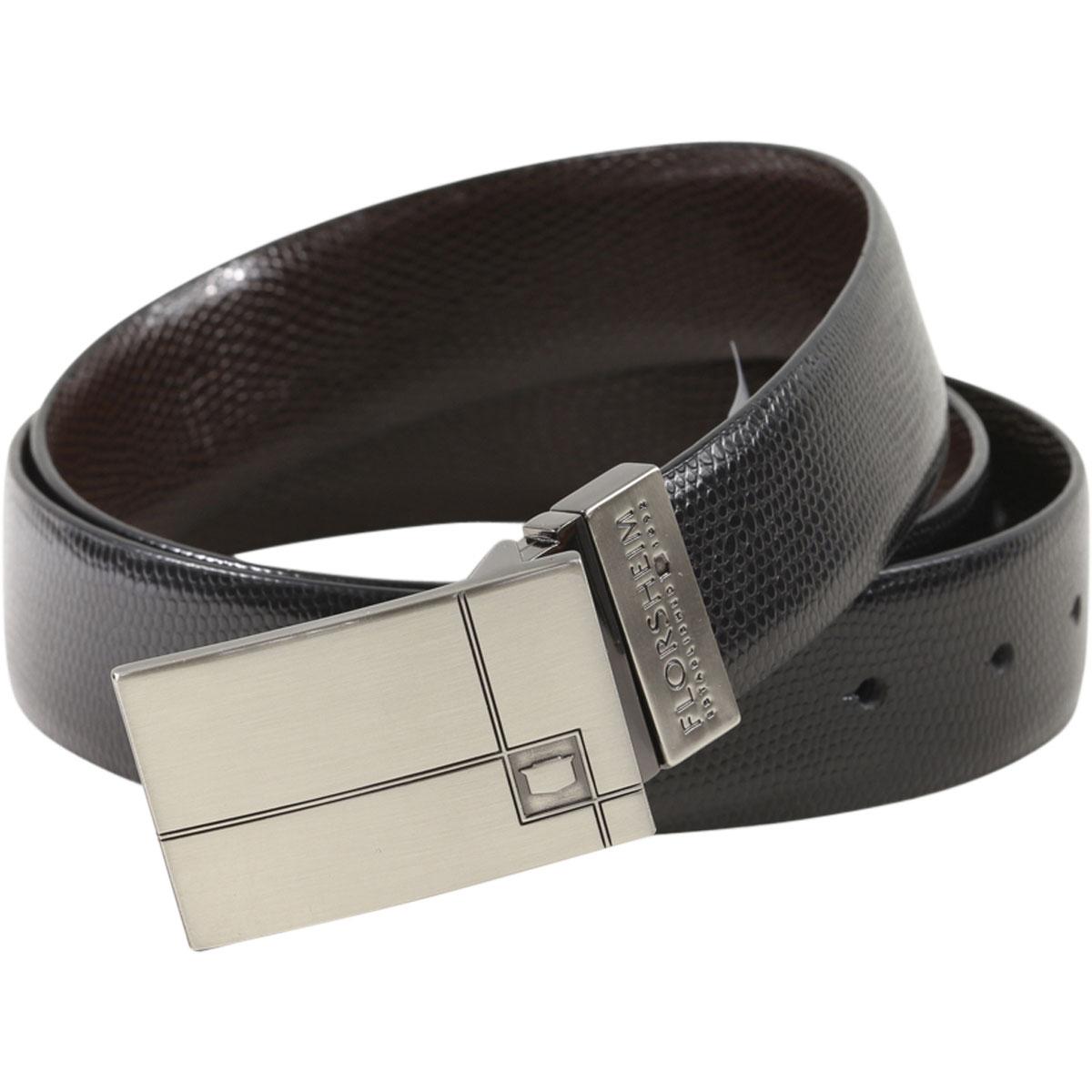 Florsheim Men/'s Kallen Reversible Genuine Leather Belt