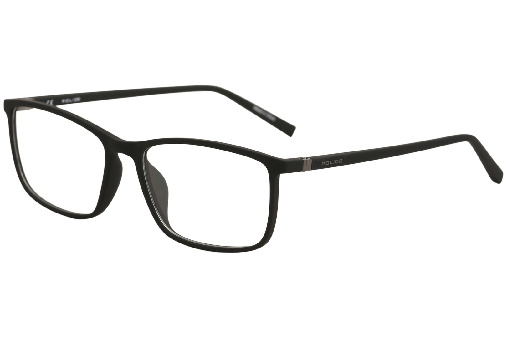 2b3a1bd35c Police Eyeglasses Perception 6 VPL255 255 06AA Black Rubber Optical ...