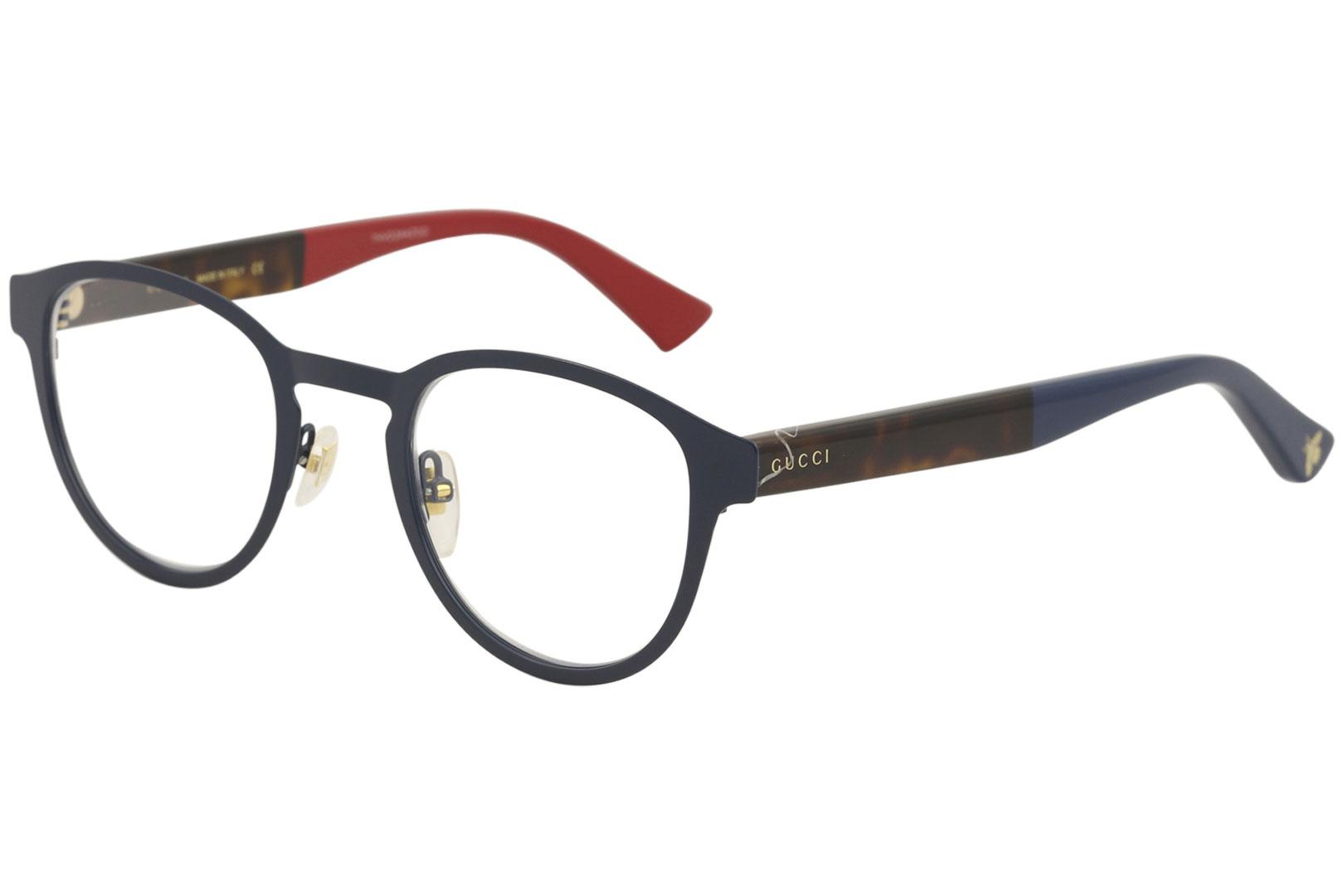 d138f52e15a Gucci Men s Eyeglasses GG0161O GG 0161 O 003 Blue Havana Optical ...