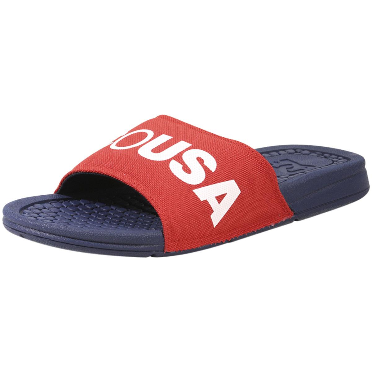 5d2749db71b3f DC Shoes Men s Bolsa-SP DC Navy Ath Red Slides Sandals Shoes Sz  12 ...
