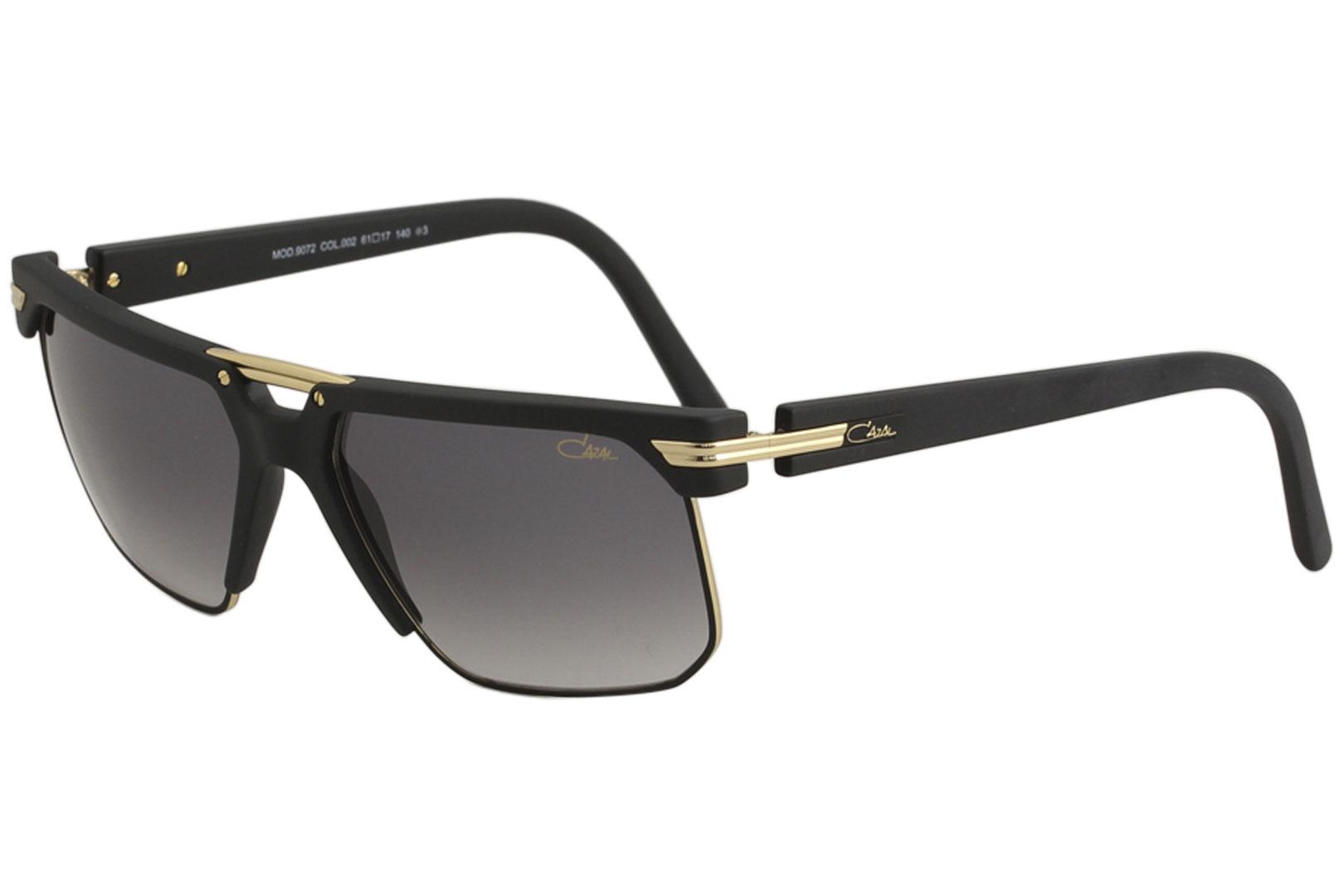 86c1333b85d Cazal Men s 9072 002 Matte Black Gold Fashion Square Sunglasses 61mm ...