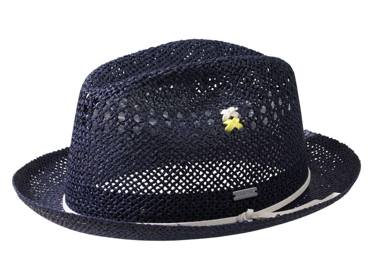 Kangol Men s Vented Straw Player Trilby Hat  1fa35698137
