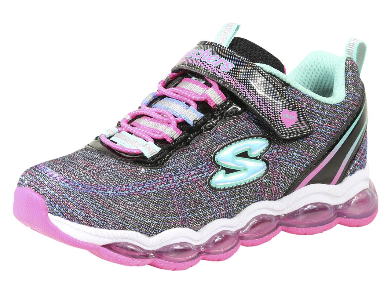 Details Blackmulti Light Up Shoes Lights Glimmer Sneakers Skechers Little Girl's Sz2 About jL543cqAR