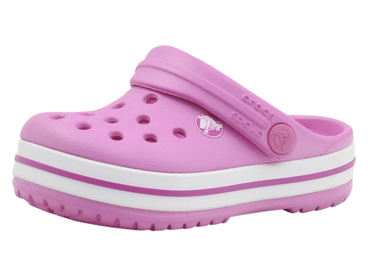 74ece86677f3 Crocs Kids Crocband Clog Party Pink Croslite Sandals 12 US Little ...
