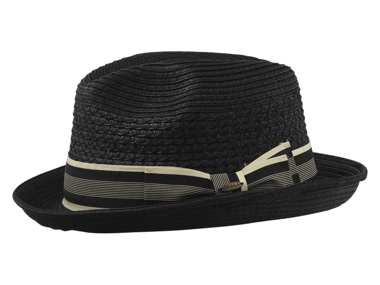 65542355c Details about Scala Men's Paper Braid Toyo Fedora Hat