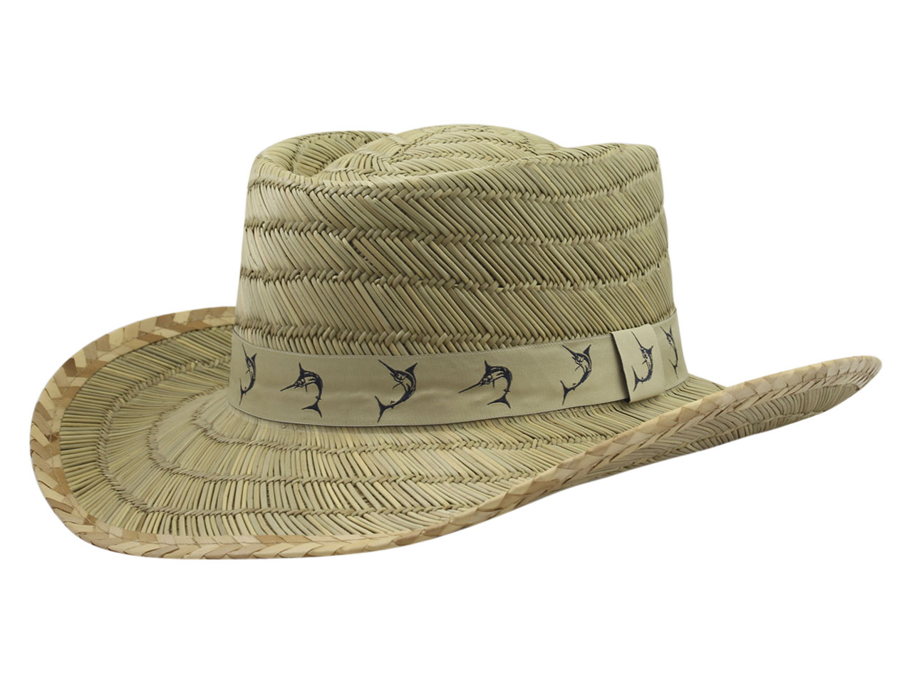 2fc62fff Dorfman Pacific Men's Marlin Tape Natural Rush Gambler Hat Sz: S/M ...