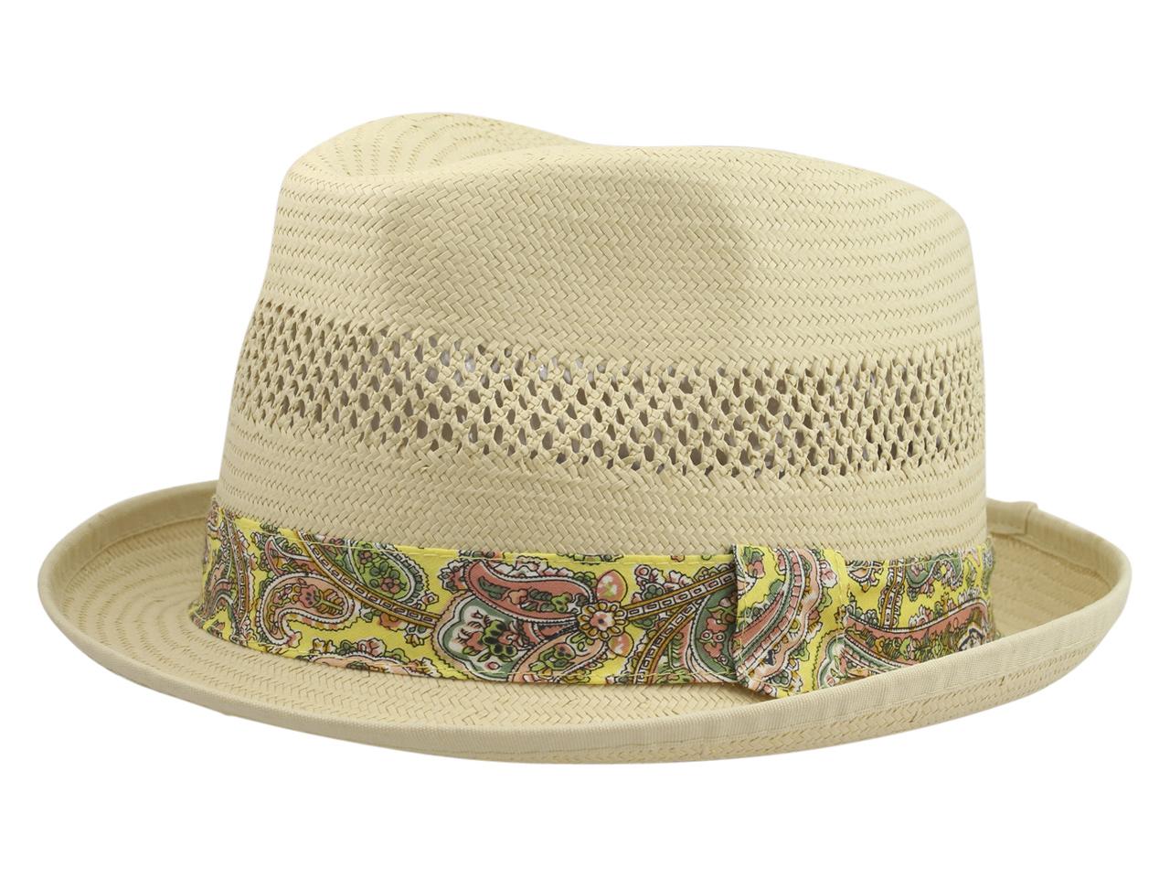Henschel Men/'s 3094 Toyo Straw Basket Weave Raffia Fedora Hat
