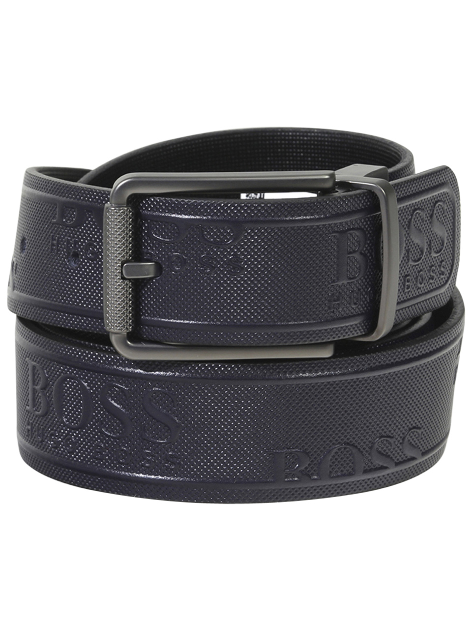 Hugo Boss Men/'s Bakaba-N Smooth Genuine Black Leather Belt