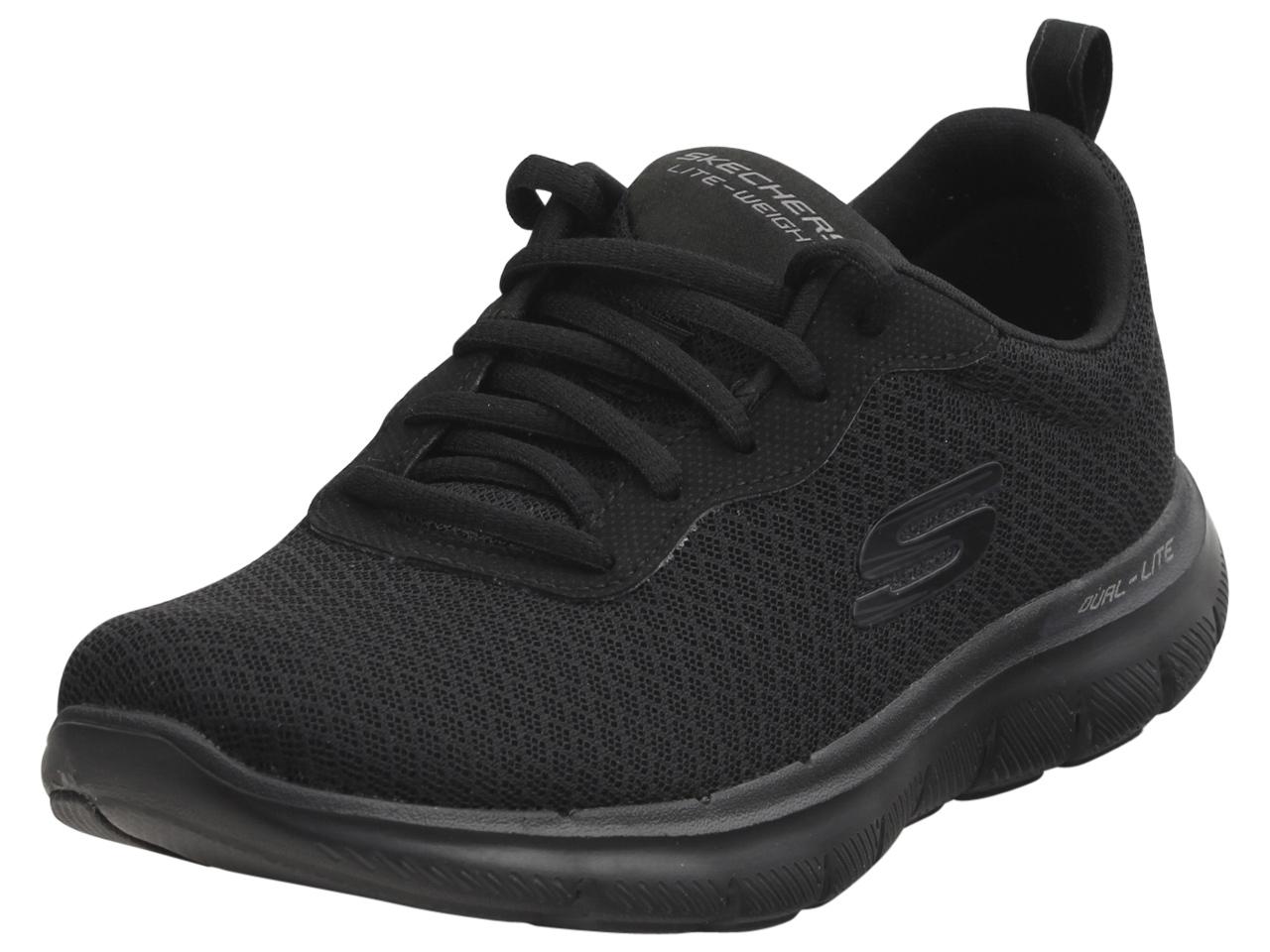 Details about Shoes Flex Appeal 2.0 Newsmaker Skechers Black Women 12775 BBK