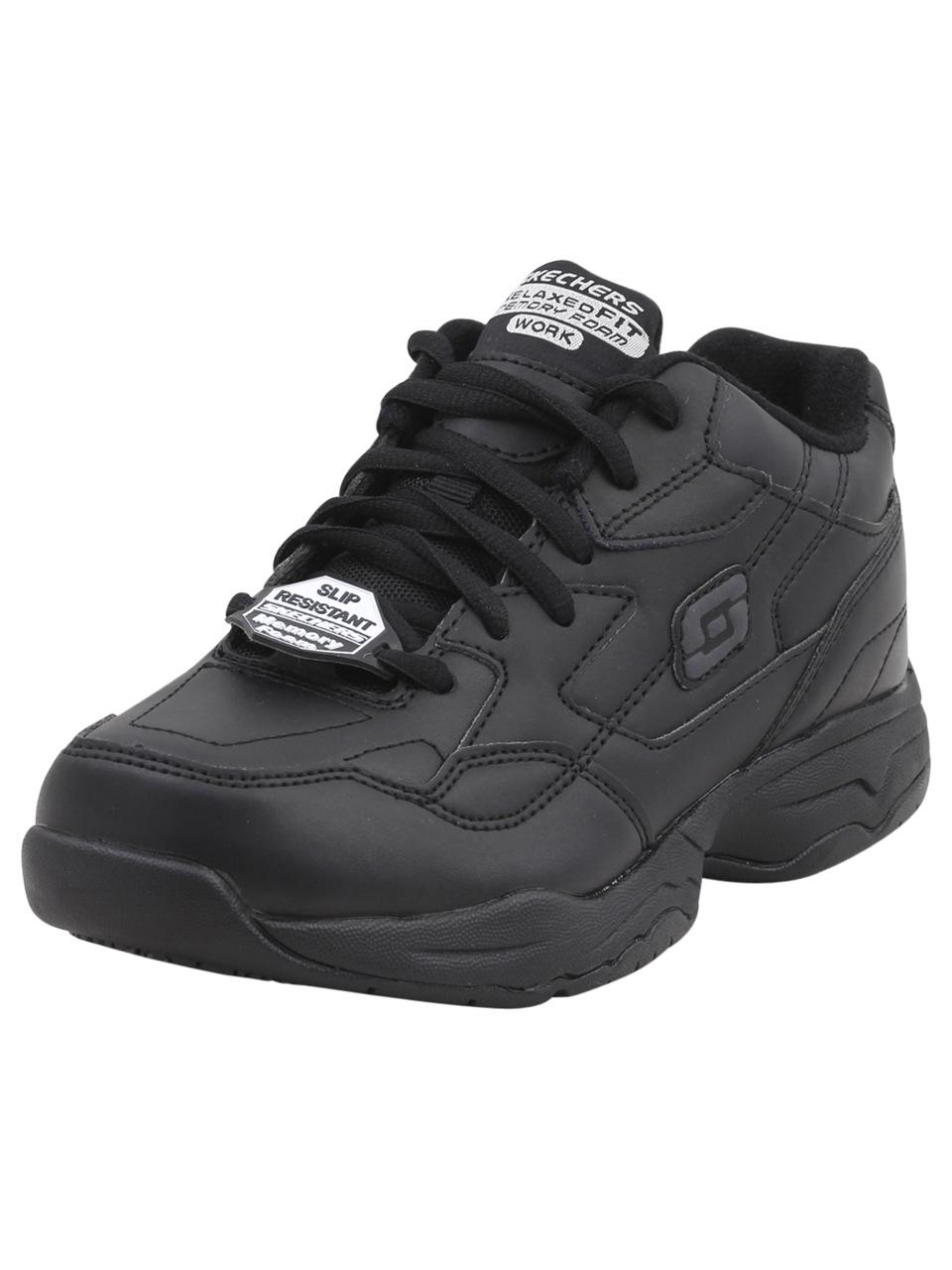 10884c325343 Skechers Relaxed Fit Felton Albie Black Slip Resistant Sneakers ...