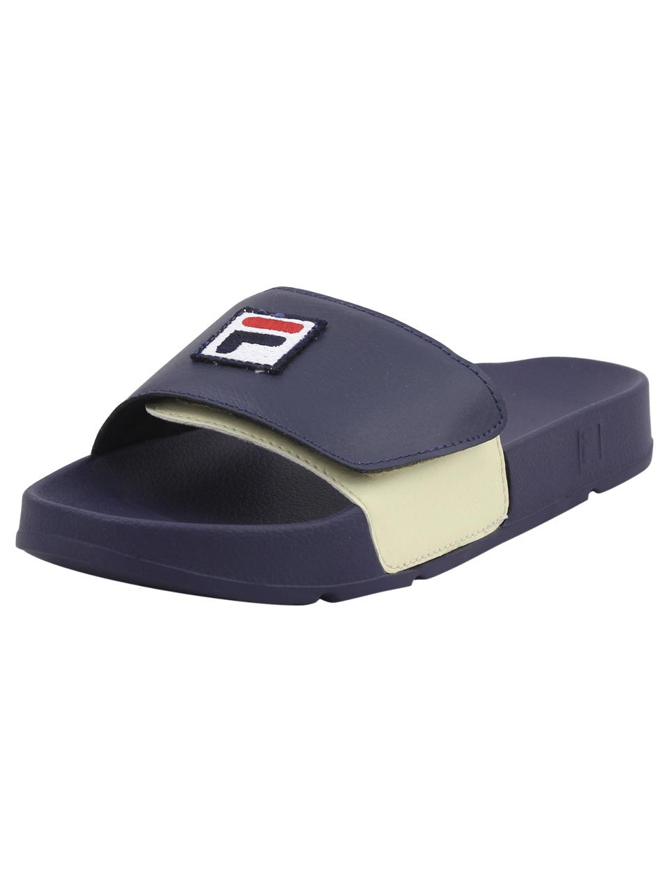 80570e3e11af Fila Men s Drifter Strap Navy Red Cream Slides Sandals Shoes