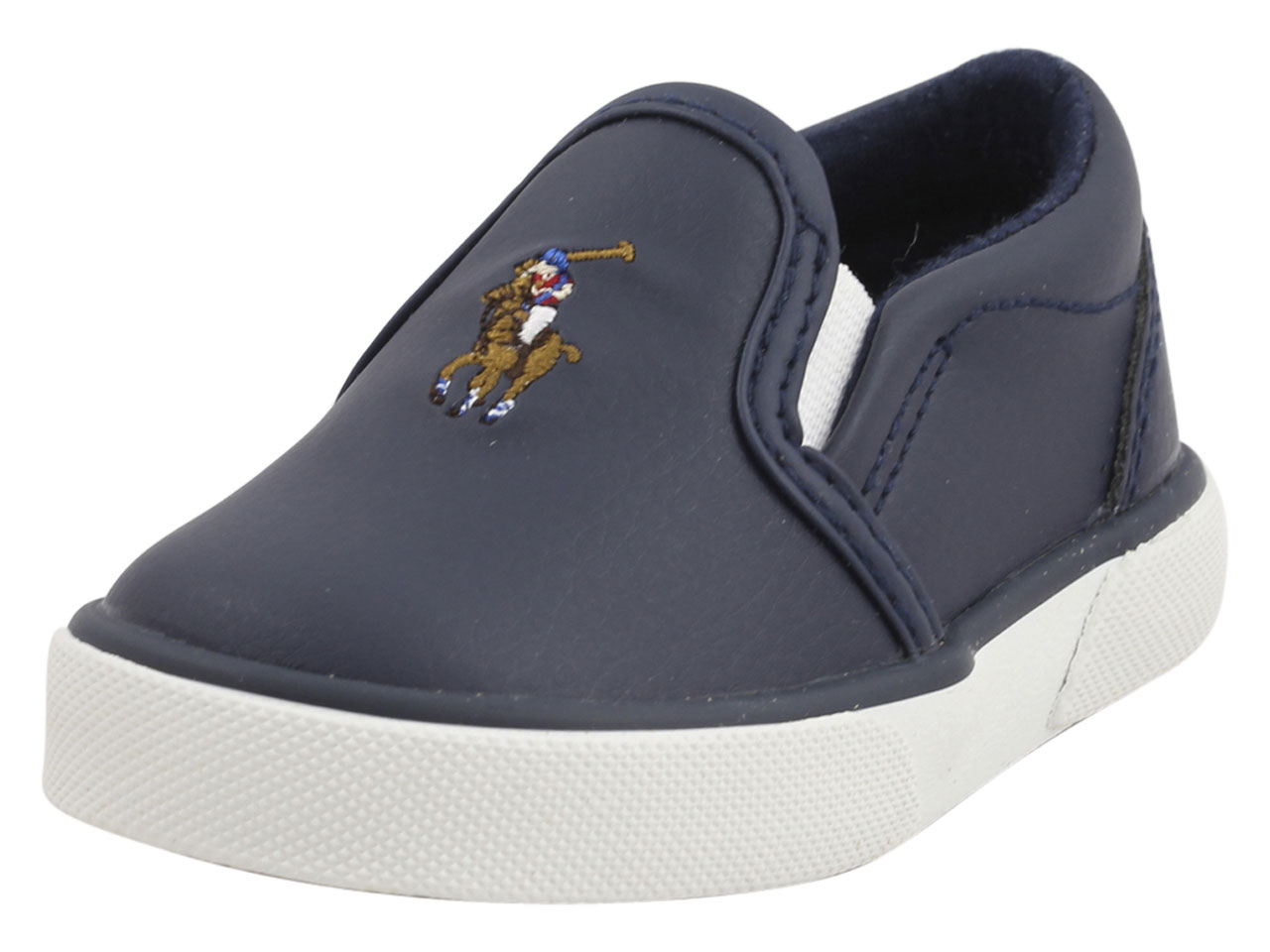 134ded63be0e3 Polo Ralph Lauren Toddler Boy s Bal-Harbour-II Navy Multi Sneakers ...